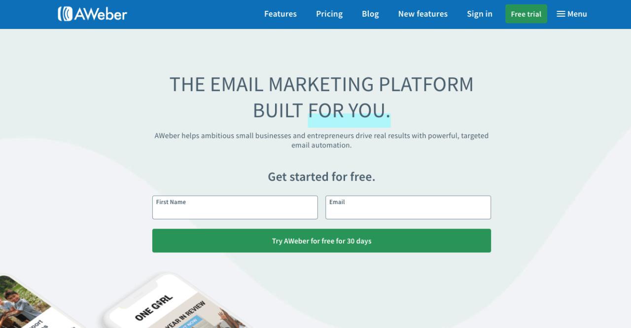 aweber email marketing herramienta