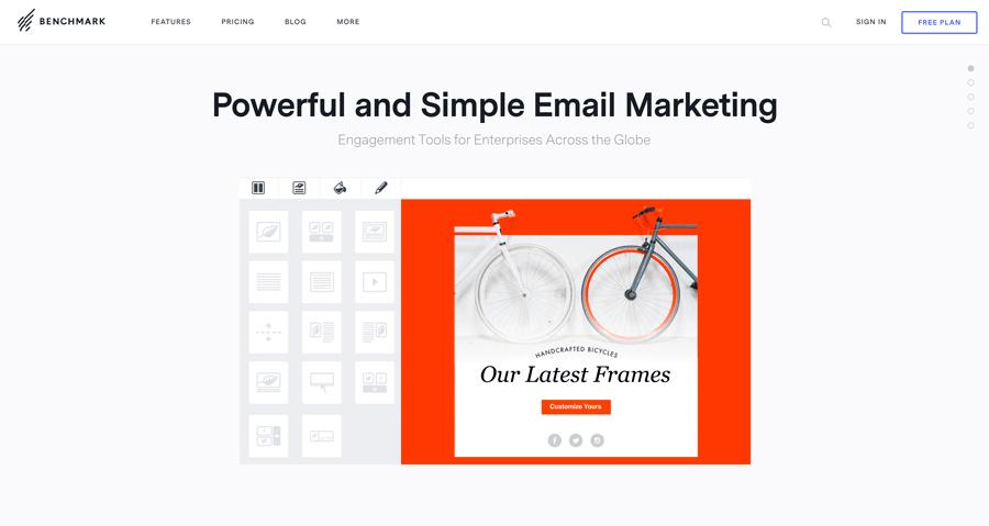 benchmark email marketing herramientas